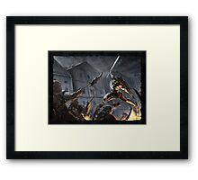 """Swords Storm"" Artwork by CHARRO Framed Print"