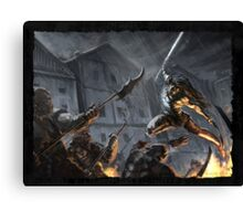 """Swords Storm"" Artwork by CHARRO Canvas Print"
