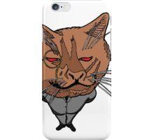 Business Cat in colour iPhone Case/Skin