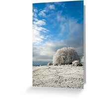 Heavy Frost Greeting Card