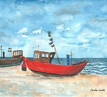 Fishing Boats at the Baltic Sea  by Caroline  Lembke