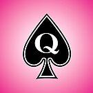 Smartphone Case - Queen of Spades - Magenta by Mark Podger