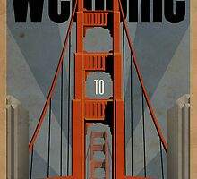 San Francisco vintage poster by DHeld