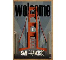 San Francisco vintage poster Photographic Print