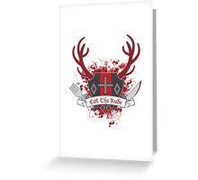 Eat The Rude - Coat of Arms Greeting Card