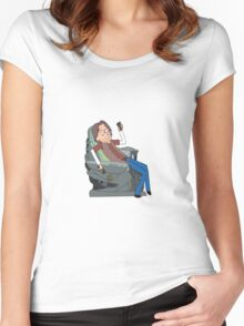 Doctor Rush and The Chair Women's Fitted Scoop T-Shirt
