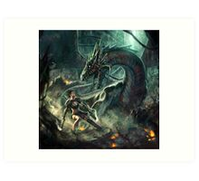 Face a Dragon by Charro Art Print