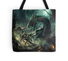 Face a Dragon by Charro Tote Bag