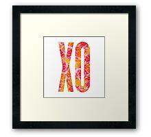 XO Framed Print