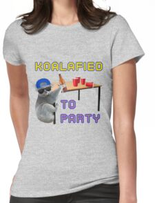 Koalafied to Party Womens Fitted T-Shirt