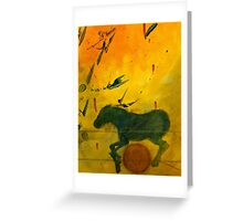 RUNNING HORSE RED BALL Greeting Card