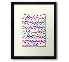 Multi Coloured Hearts Framed Print