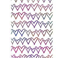 Multi Coloured Hearts Photographic Print
