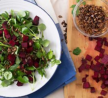Beetroot Watercress Salad by Charlotte Lake