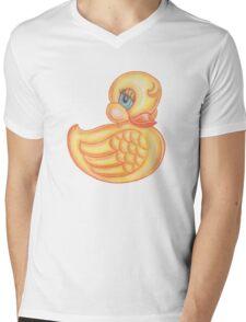 Vintage  / retro look cute little rubber ducky Mens V-Neck T-Shirt