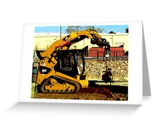 Compact Multi Terrain Track Loader  Greeting Card