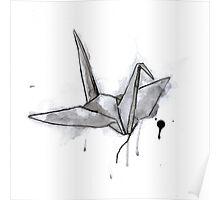 Black Crane Poster