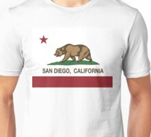 San Diego California Republic Flag Unisex T-Shirt