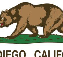 San Diego California Republic Flag Sticker