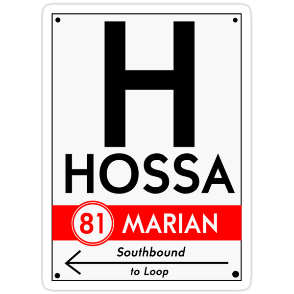 Retro CTA sign Hossa by mightymiked