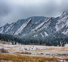 Dusted Flatirons Chautauqua Park Boulder Colorado by Bo Insogna