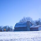 BARN IN THE SNOW by Pauline Evans
