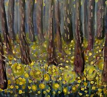 Golden Buttercup Woods by JulianaLachance