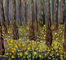 Golden Buttercup Woods by JulianaLachance