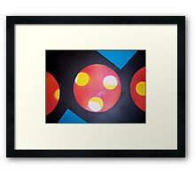 circle. rectangle. triangle. fingerprint. Framed Print