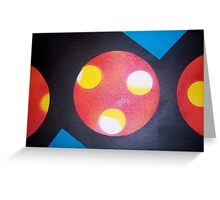circle. rectangle. triangle. fingerprint. Greeting Card