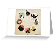 Teen Wolf Pack Graphic Greeting Card