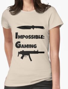 Impossible Gaming-BLACK FONT Womens Fitted T-Shirt