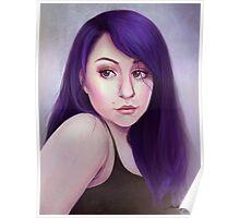 Purple Girl Poster