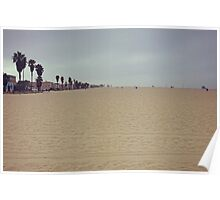Sunday at Venice Beach: Sand and Solitude Poster