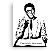 What would Atticus do?  Canvas Print