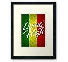 Living High Typography (Light) Framed Print