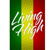 Living High Typography (Light) Photographic Print