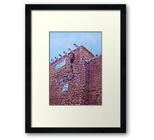 Gap in the Wall Framed Print