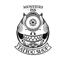 Monsters INK Mike Photographic Print
