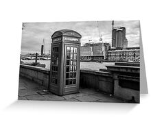 Black And White telephone Box Greeting Card