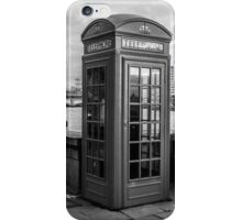 Black And White telephone Box iPhone Case/Skin