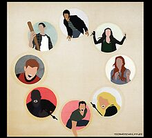 Teen Wolf Pack Graphic (Black Cases) by twerewolfitude