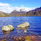 Cradle Mountain with Winter Mantle by Harry Oldmeadow