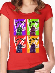 To Victory Dr. Who  Women's Fitted Scoop T-Shirt