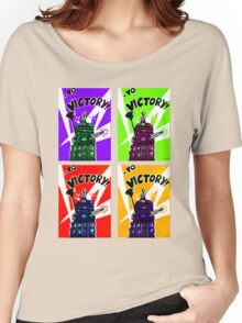 To Victory Dr. Who  Women's Relaxed Fit T-Shirt