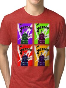 To Victory Dr. Who  Tri-blend T-Shirt