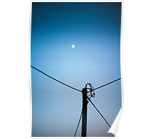 Daytime Moon Poster