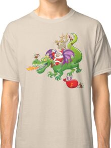 Santa changed his reindeer for a dragon Classic T-Shirt