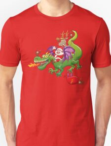 Santa changed his reindeer for a dragon T-Shirt