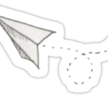 Louis Tomlinson Paper Airplane Tattoo Sticker